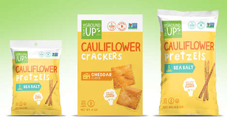 Cauliflower-Powered Snacks - From the Ground Up's Pretzels and Crackers Feature Cauliflower Powder