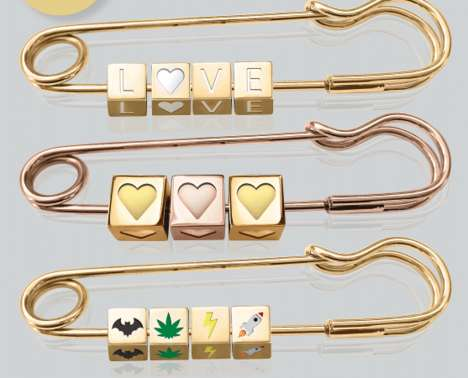 Personalized Statement Brooches - The Brooches by Boume Jewelry are Tailored to Fit Men and Women