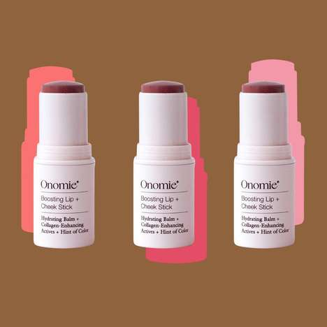 Pigmented Two-in-One Cosmetic Sticks - Onomie Boosting Lip and Cheek Balm is a Blush and a Lipstick