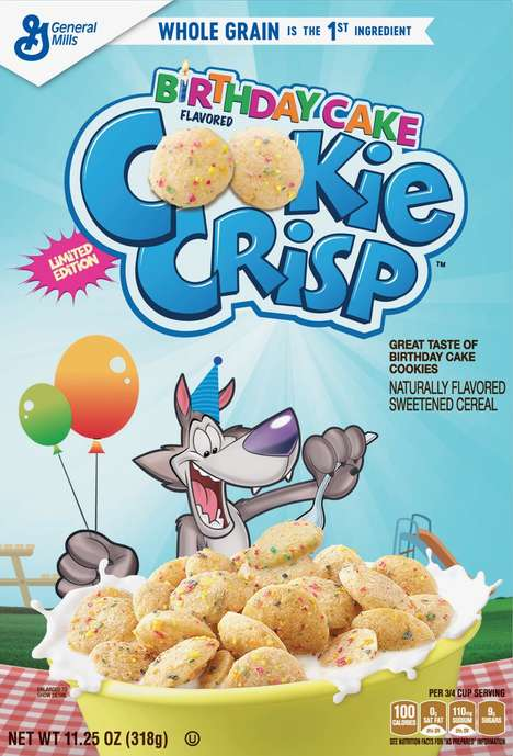 Birthday Cake Breakfast Cereals