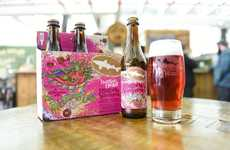 Vinyl-Inspired Pink Beers - The Flaming Lips Teamed Up with Dogfish Head to Create a Pink Beer