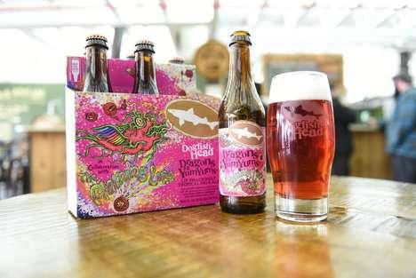 Vinyl-Inspired Pink Beers