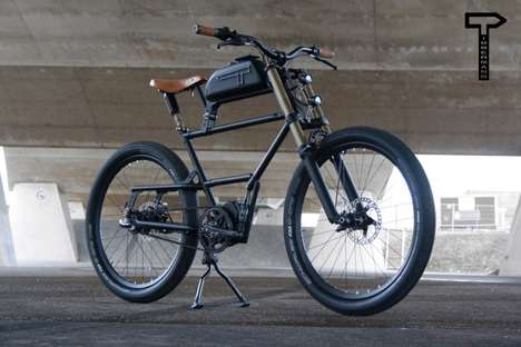 Motorcycle-Inspired Urban Electric Bikes