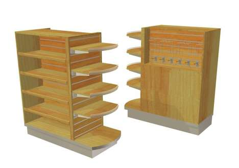 Simplistic Grocery Checkout Displays - Cayuga Offers Ergonomically Focused Stores Shelving Units