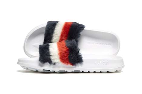 Fuzzy Logo Slide Shoes