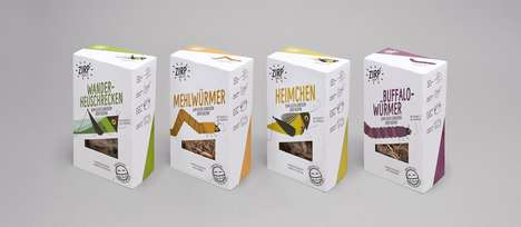 Illustrated Insect Snack Packaging