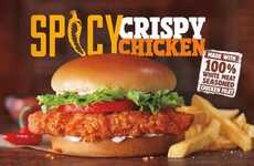 Crispy Balanced Chicken Sandwiches - The Burger King Spicy Crispy Chicken Sandwich is Bold and Tasty