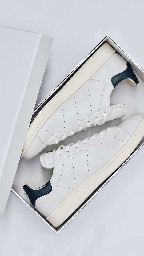 Reconstructed Leather Sneakers