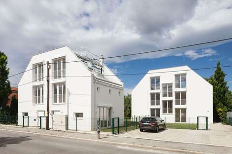 Twin White Houses - The Simple Two White Houses by Bulant & Wailzer Have Identical Exteriors