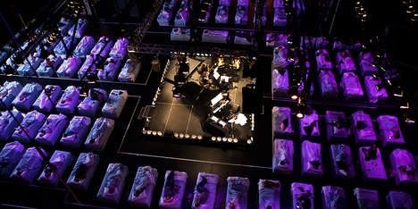 Branded Sleep-Inducing Concerts - This Concert Hall Was Filled with 150 Beautyrest Beds
