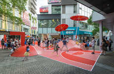 Multi-Age Shopping Center Playgrounds - 'Red Planet' by 100Architects Encourages Climbing