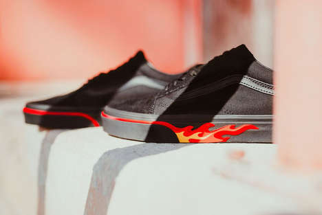All-Black Fire Sneakers
