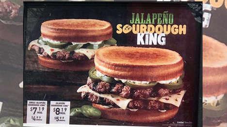 Spicy Sourdough Burgers