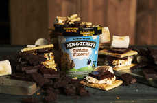 Gooey Marshmallow Ice Creams - Ben & Jerry's New 'Gimme S'more' Flavor Features Toasted Marshmallows
