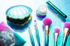 Mermaid-Inspired Makeup Brushes - Tarte's 'Minutes to Mermaid Brush Set' is Bold and Holographic