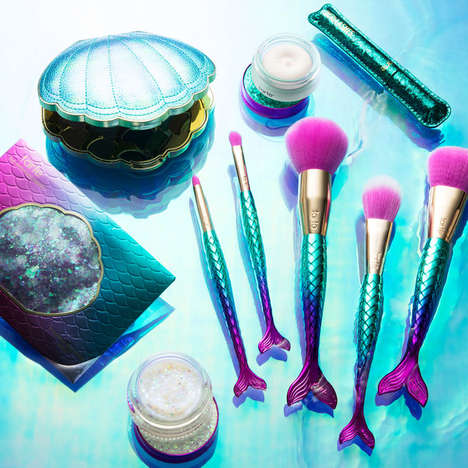 Mermaid-Inspired Makeup Brushes