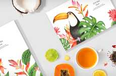 Tropical Tea Branding - It's Tea Time is a Conceptual Brand Focused on Aesthetics and Quality