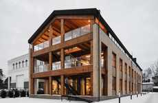 Wooden Loft-Like Offices