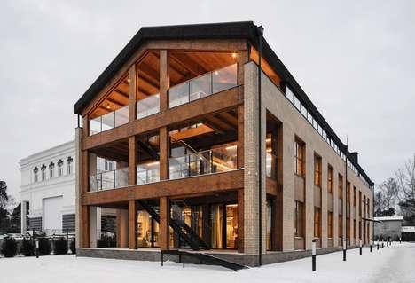 Wooden Loft-Like Offices