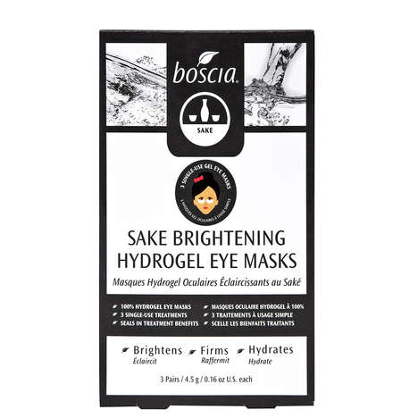 Sake-Based Eye Masks - Boscia's Eye Masks Target Bags, Moisture Loss, and Fine Lines