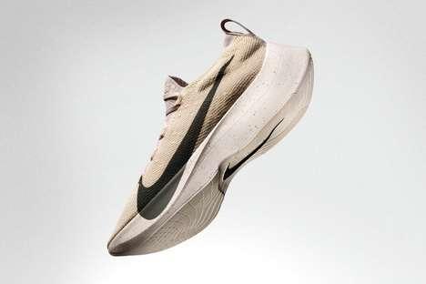 Beige Knitwear Sneakers