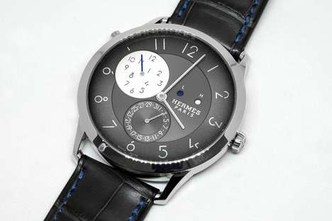 Luxurious Dual-Time Watches - Hermés Elevates It's Classic Slim d'Hermés Model with New GMT Elements