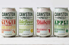 Reduced Sugar Craft Sodas - These Cawston Press Contain 31% Less Sugar Than Previous Recipes