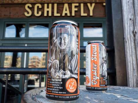 Collectible Beer Cans - Schlafly Beer is Releasing Its Oyster Stout in Limited-Edition Packaging