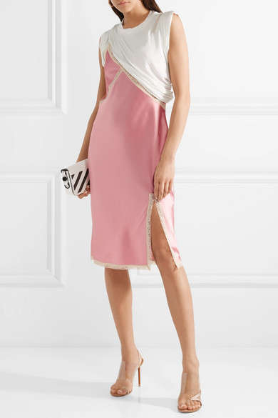 Layered Cut-Off Dresses - Alexander Wang Released a Satin Jersey Dress with a Casual Aesthetic