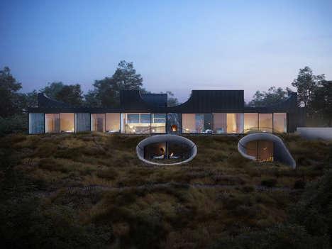 Modern Sculpture Houses