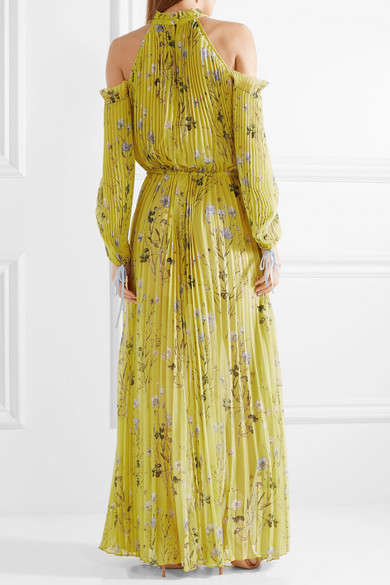 Off-Shoulder Floral Maxi Dresses - This New Self-Portrait Design Boasts a Loose Statement Silhouette