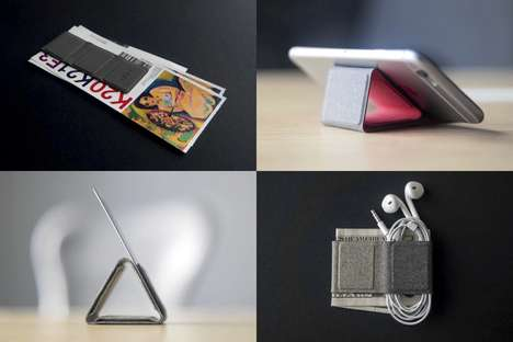Magnetic Multipurpose Wallets - The 'CLIPPY' Wallet Organizes Cards, Cash and More