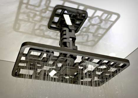 Asymmetrical Geometry Shower Heads
