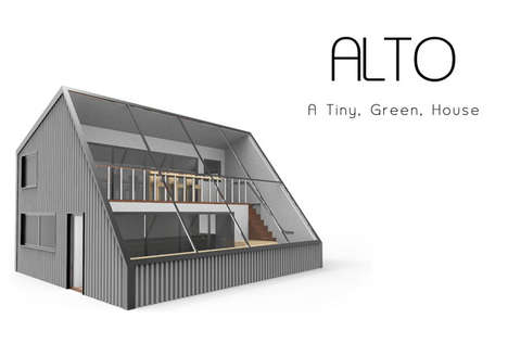 Greenhouse-Integrated Tiny Homes - The 'Alto' House Has a Large Window to Let Natural Light in