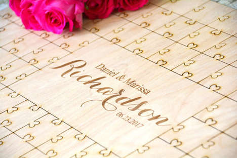 Puzzle-Like Wedding Guest Books