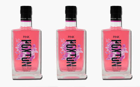 Floral Neon-Colored Libations - The Hoxton Spirits Pink Gin is Infused with Natural Ingredients
