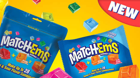 Combinational Candy Treats - The Bazooka Candy 'Match-Ems' are Meant to be Mixed and Matched