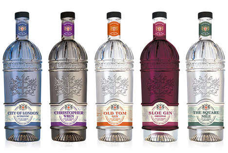 Anniversary-Edition Gin Labels - City of London Distillery Redid Its Look to Celebrate a Milestone
