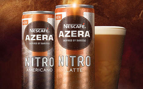 Mainstream Nitrogen-Infused Coffees - The Nescafé Azera Range Has Been Expanded to Offer New Options