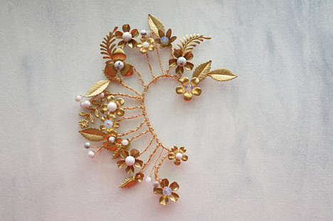 Delicate Ear Cuff Designs - Lietofiore's Products are Handcrafted and Boast an Elegant Aesthetic