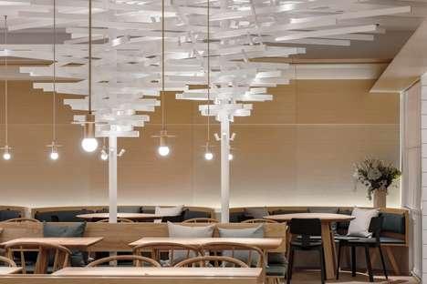 Contemporary Warm Bistro Designs
