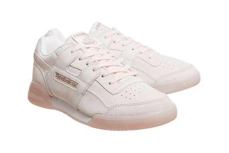 Pastel Pink Vintage Sneakers