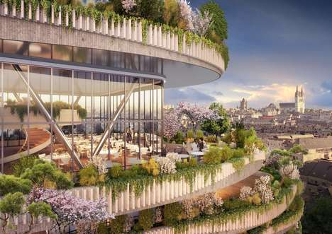 Horticultural High-Rise Towers - This Mixed-Use Tower Would Produce Fruits and Vegetables