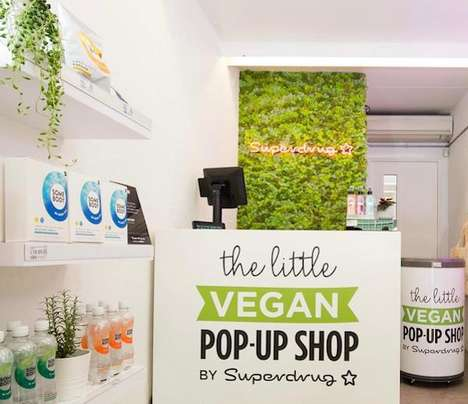 Vegan Beauty Pop-Ups - The 'Little Vegan Pop-Up' by Superdrug Spotlights Plant-Based Beauty Products