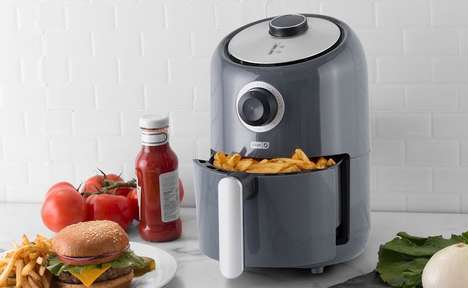 Electric Oil-Free Fryers - The Dash Compact Air Fryer Reduces Added Fat by 80%