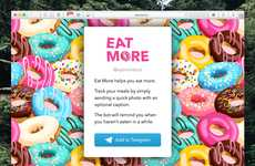 Meal-Logging Apps - The 'Eat More' App Reminds You When it's Time for a Meal