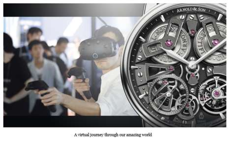 VR Timepiece Experiences - Arnold & Son Launched an Immersive VR Experience at Baselworld