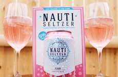 Millennial Pink Seltzers - Nauti Seltzer is Now Selling a Sparkling Rosé in a Pretty Pink Hue