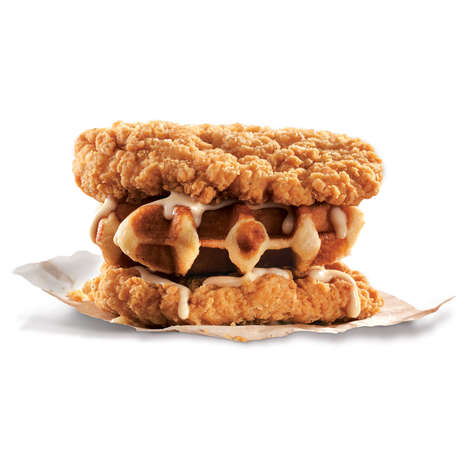 Waffled Fried Chicken Sandwiches