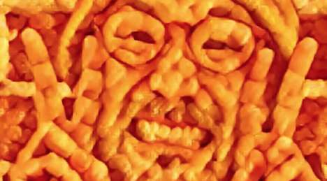 Snack Food Portrait Apps - The Cheetos Vision App Turns Consumers' Photos into Cheesy Cheeto-Art
